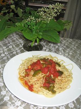 トマトソースのスパゲティー
