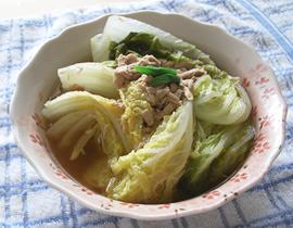 白菜とツナの煮込み