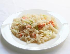 塩鮭とキャベツのパスタ