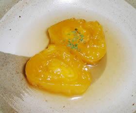 かぼちゃをつかった卵焼きもどきの煮物