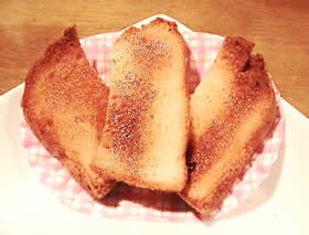お米パンのさくさくラスク