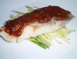 鱈のゴマ酢味噌焼き